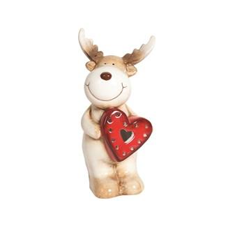 LED Reindeer 15cm 2 Asst