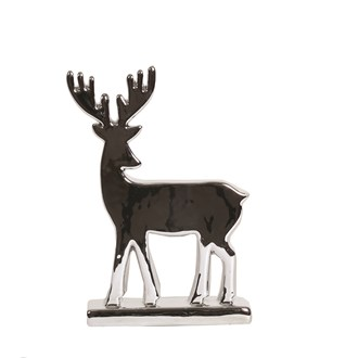 Silver Reindeer 21cm