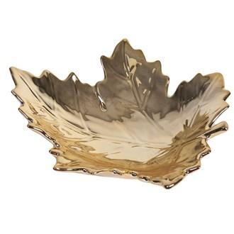Gold Maple Leaf Dish 23cm