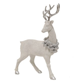 Standing Stag Silver White 35cm