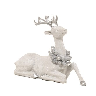 Laying Stag Silver White 25.5cm