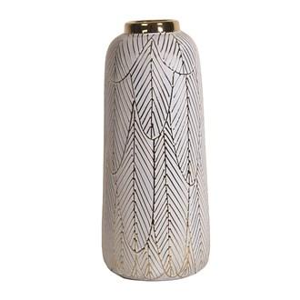Ceramic Gold Etched Vase34.5cm