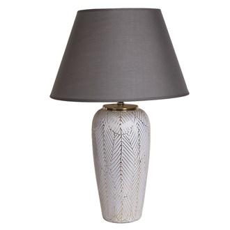 Ceramic Etched Lamp 37cm