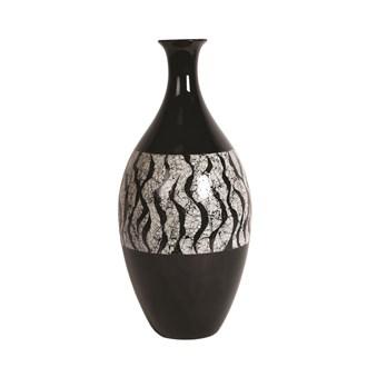Black Stripe Vase 42cm