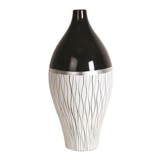 Black & White Line Vase 43cm