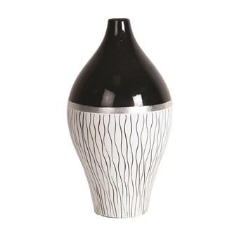 Black & White Line Vase 35.5cm