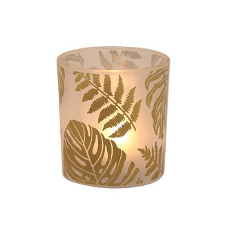 Gold Leaf Tealight Holder 8cm