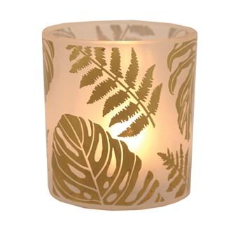 Gold Leaf Tealight Holder 12.5cm