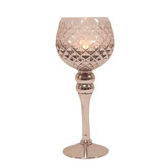 Silver Goblet Candle Holder 30cm