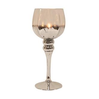 Silver Goblet Candle Holder 35cm