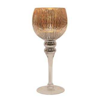 Gold Stripe Goblet Candle Holder 30cm
