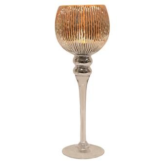 Gold Stripe Goblet Candle Holder 35cm
