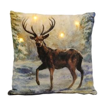 LED Stag Cushion 40x40