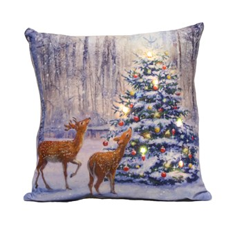 LED Tree & Deer Cushion 40x40