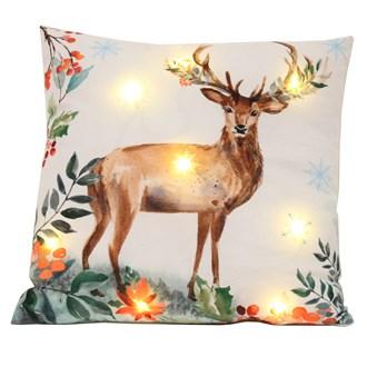 LED Reindeer Cushion 45cm x 45cm