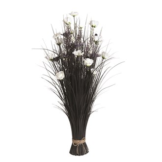 Grass Floral Bundle White Freesia 100cm