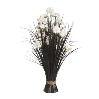 Grass Floral Bundle White Carnation 70cm
