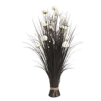 Grass Floral Bundle White Carnation 100cm