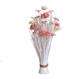 Rose/Lily Floral Grass 70cm