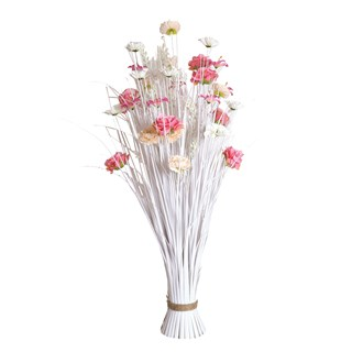 Grass Floral Bundle Pink Rose and Lily 100cm