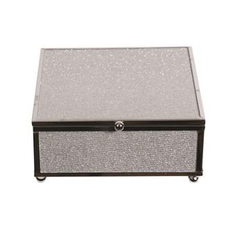 Silver Rim Jewellery Box 13x13cm