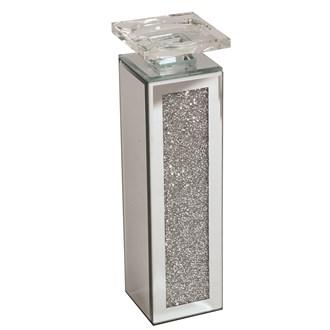 Jewel Mirror Candle Holder 30cm