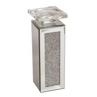 Jewel Mirror Candle Holder 24cm
