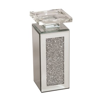 Jewel Mirror Candle Holder 20cm