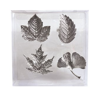 Set of 4 Leaf Napkin Rings