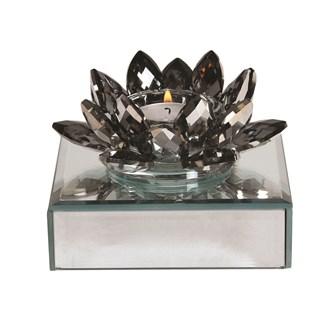 Crystal Lotus Tlight Hld11.5cm