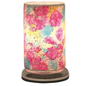 Rainbow Crackle Touch Table Lamp 24cm