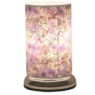 Purple Crackle Touch Table Lamp 24cm