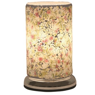 Vintage Floral Crackle Touch Table Lamp 24cm