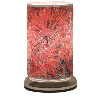 Red Crackle Touch Table Lamp 24cm