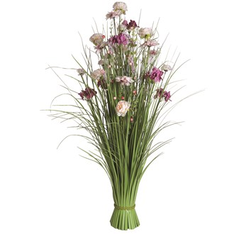 Grass Floral Bundle Pink and Peach Hydrangea and Peony 100cm