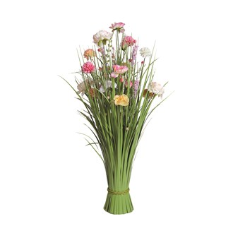 Grass Floral Bundle Pink and Peach Peony and Camellia 70cm