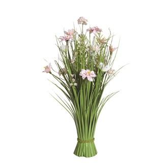 Grass Floral Bundle Peach Freesia and Dahlia 70cm