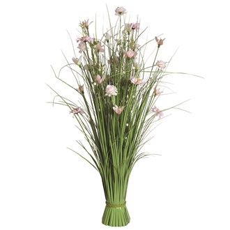 Grass Floral Bundle Peach Freesia and Dahlia 100cm
