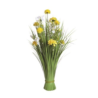 Grass Floral Bundle Yellow Dahlia and Freesia 70cm