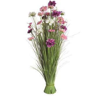 Grass Floral Bundle Pink Mixed 100cm