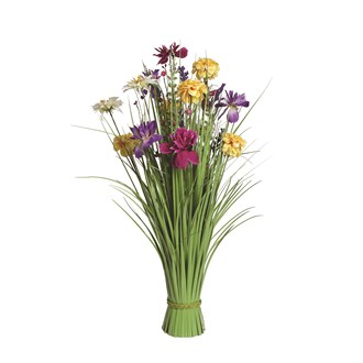 Grass Floral Bundle Pink and Yellow Magnolia 70cm