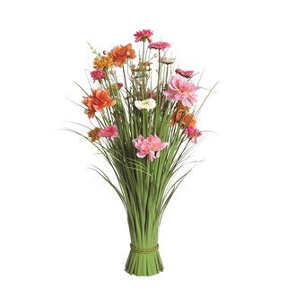 Grass Floral Bundle Coral and Pink Mixed 70cm