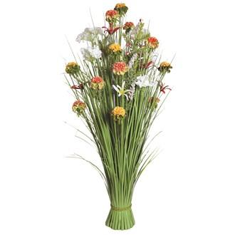 Grass Floral Bundle Orange and White Wild Flower 100cm