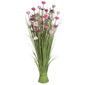 Grass Floral Bundle Pink Sakura and Rose 100cm