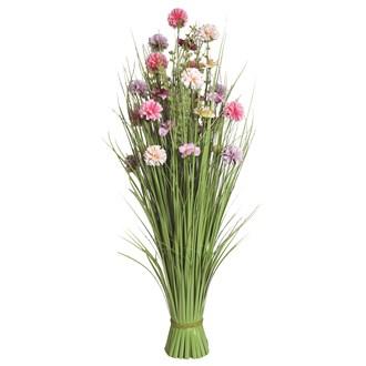 Grass Floral Bundle Pink and Lilac Camellia 100cm