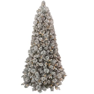 7ft Pre Lit (300L) Snow Tree