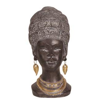 African Lady Head 35cm