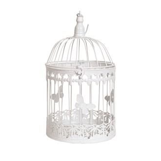 Vintage Birdcage White 32cm