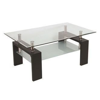 Black Veneer Coffee Table 100x60cm
