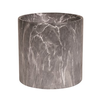 Grey Marble Planter 20x20cm